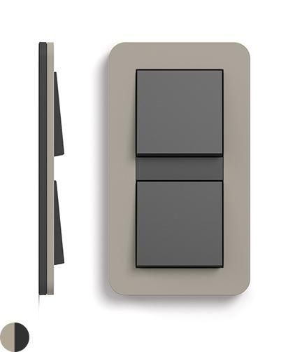 Grijsbeige Soft-Touch/antraciet