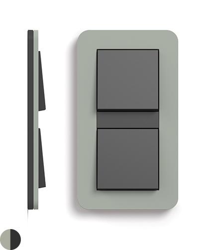 Grijsgroen Soft-Touch/antraciet