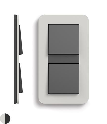Lichtgrijs Soft-Touch/antraciet