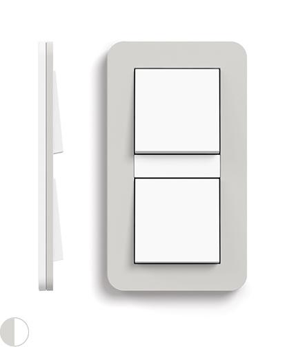 Lichtgrijs Soft-Touch/zuiver wit glanzend
